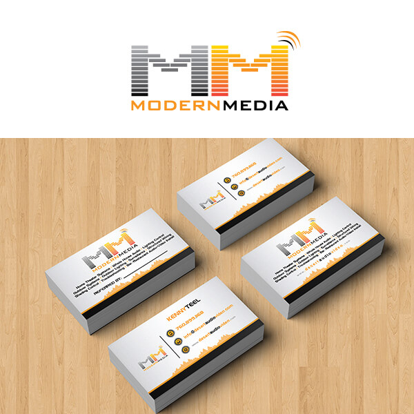 Impression Design Modern Media Logo & Business Cards Design