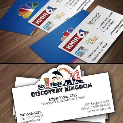 Impression Design Six Flags Business Cards